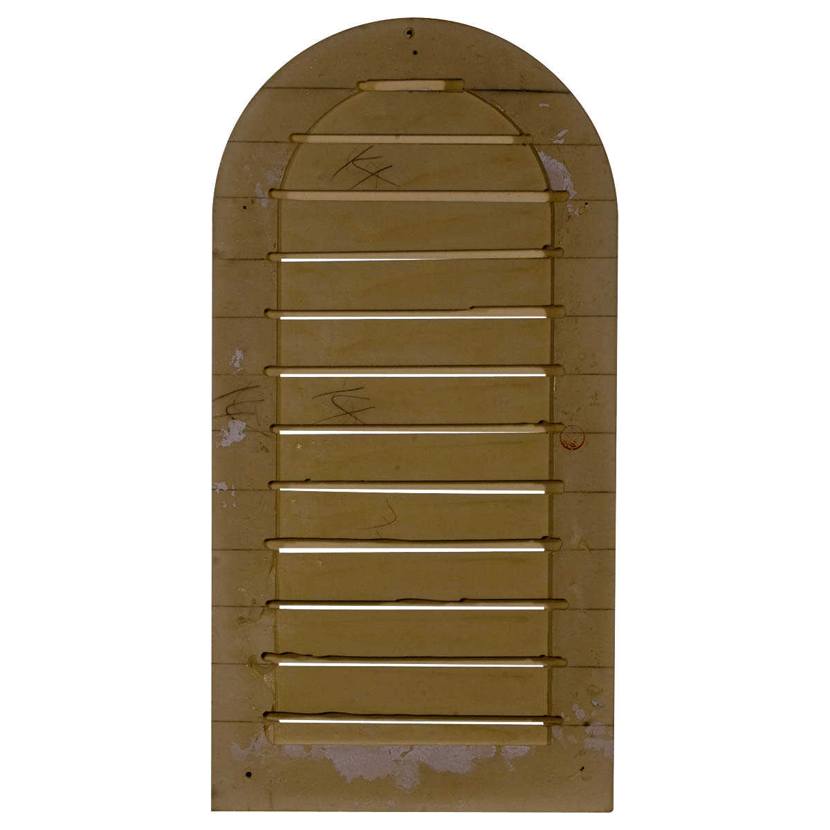 12'W x 24'H x 1 7/8'P, Cathedral Gable Vent Louver, Functional