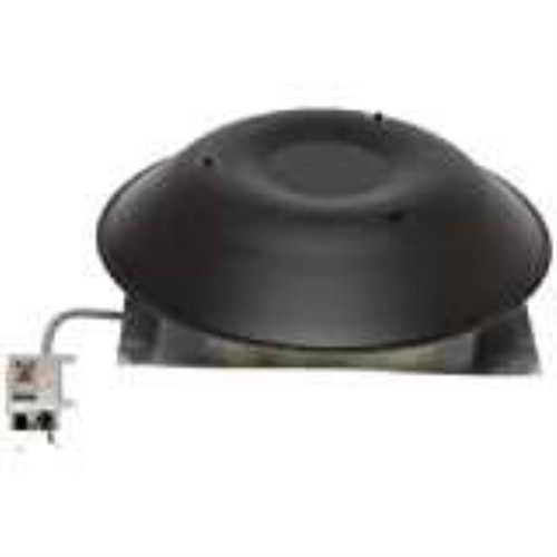 Lomancool 2000 2000B Standard Roof Mount Power Ventilator, Aluminum, Black