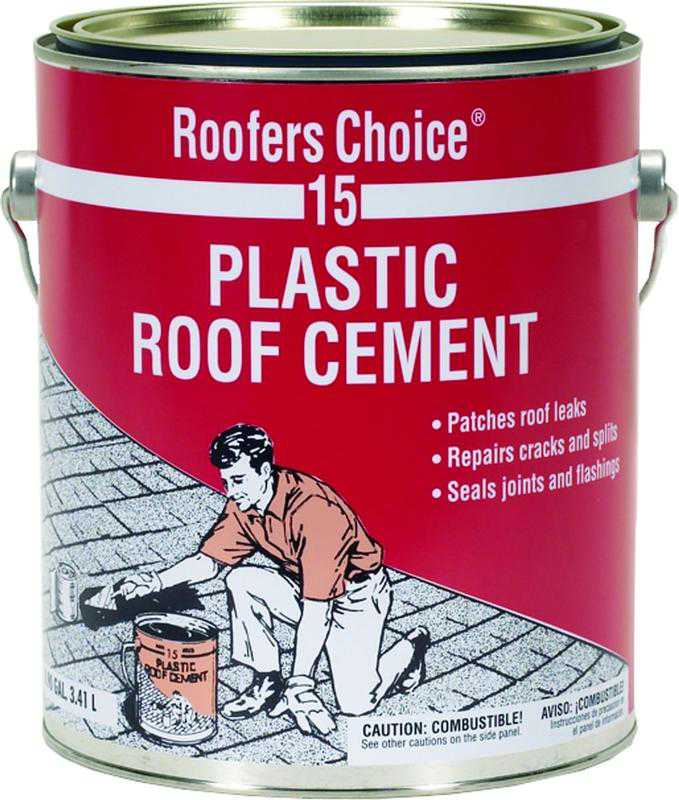 Henry RC015042 Plastic Roof Cement, 1 gal, Can, Black, Fluid
