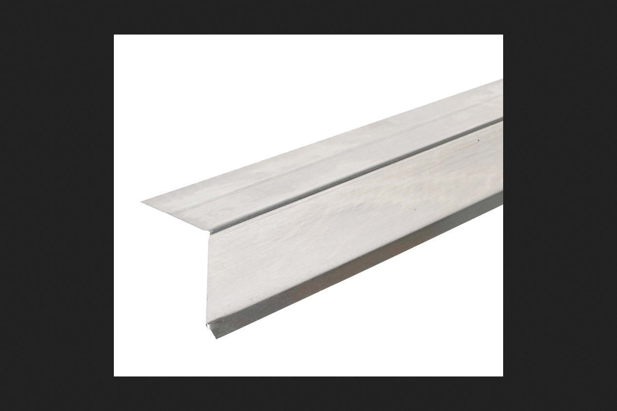 Amerimax Galvanized Steel Roof Flashing Drip Edge White 1 in. H x 10 ft. L x 1-1/2 in. W