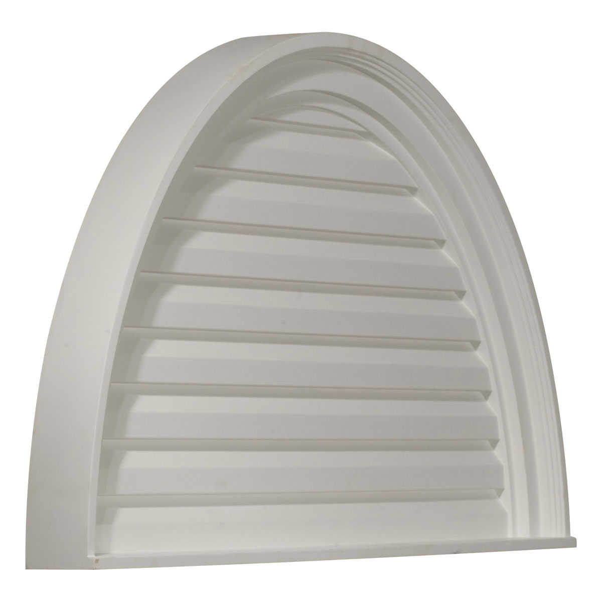 36'W x 18'H x 2 5/8'P, Half Round Gable Vent Louver, Decorative