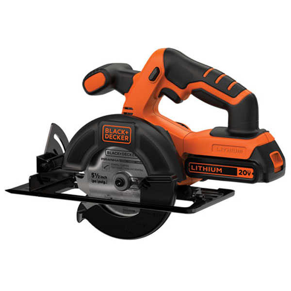 BLACK+DECKER BDCCS20C 20-Volt Max Lithium-Ion Cordless 5-1/2 in. Circular Saw, Battery Included